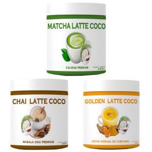 Pack Lattes Veganos - LATTE VEGANOS LECHE ORGANICA DE COCO #latte #chile #goldenlatte #matchalatte #chailatte #goldenlatte #especias #lattenatural #especiasreales #chile #empresachilena #andes #andestea